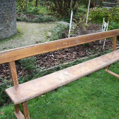 M009B- Oude Franse houten zitbank