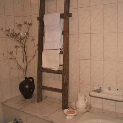 W011F- oude Franse trap/ladder