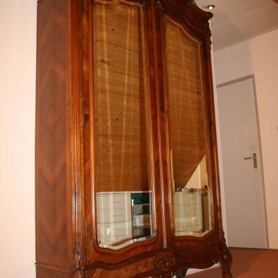 M017- Antieke Louis XV spiegelkast, kuifkast