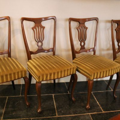 M007B- 2 Art Nouveau stoelen