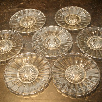 A124- glazen gebaksschaaltjes
