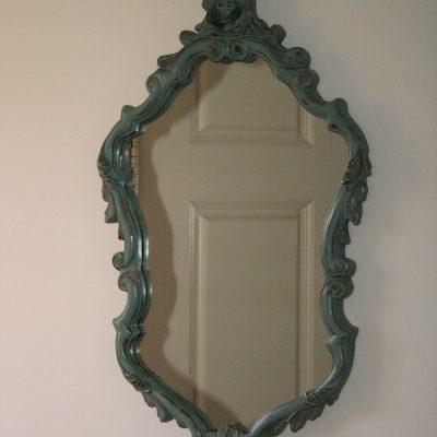 W122- Brocante Franse barokke spiegel