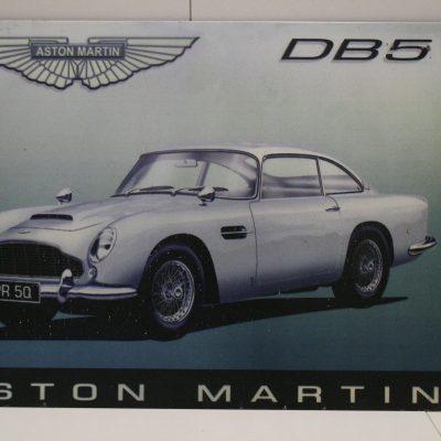 W063 - Metalen reclamebord Aston Martin