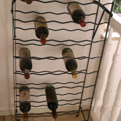 W071J- brocant Frans Rigidex wijnrek 50 flessen