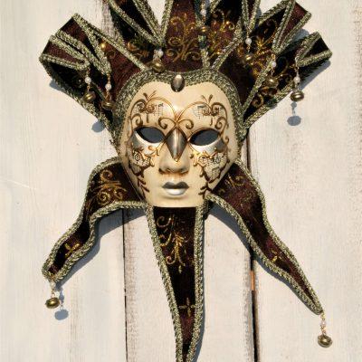 W037D- venetiaans masker vrouw