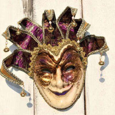 W037A- venetiaans masker man