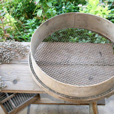 W001H- Brocante Franse houten zeef