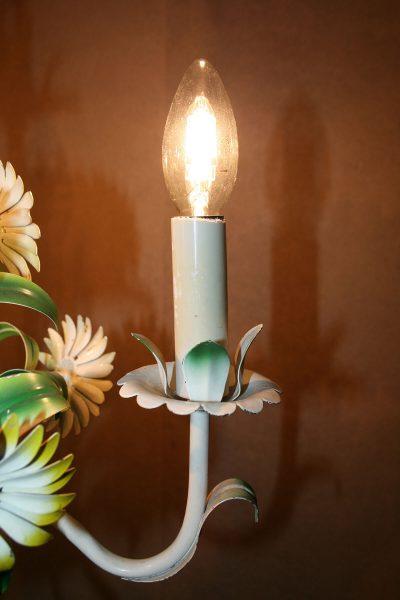 V033 - Franse vintage bloemenlamp