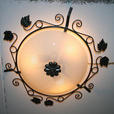 V040 - Plafondlamp, plafonniere, schaallamp jaren 50-60