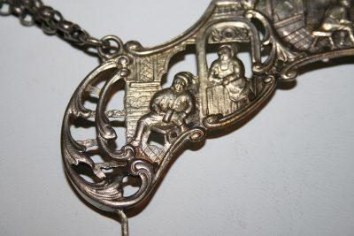 W009 - Zilveren tasbeugel