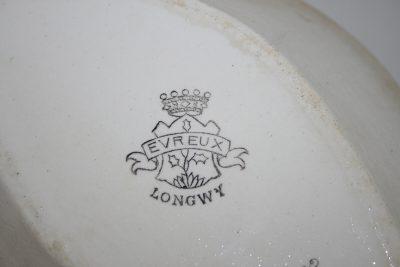 A005 - Antieke Franse Longwy porseleinen schalen