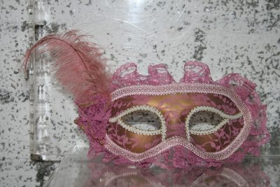 W034 - Venetiaans masker rose