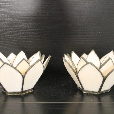 W043 - Setje waxinelampjes Tiffany