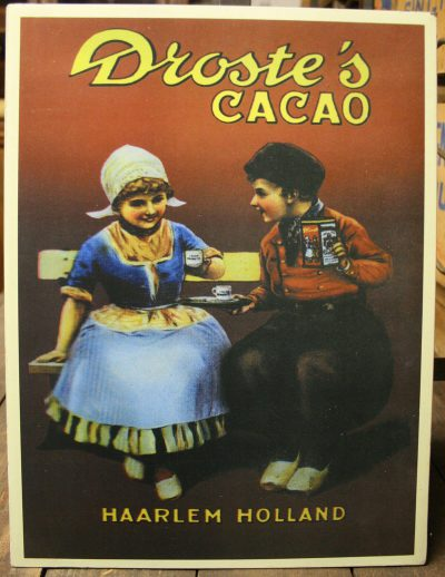 W064 - Metalen reclamebord Droste cacao