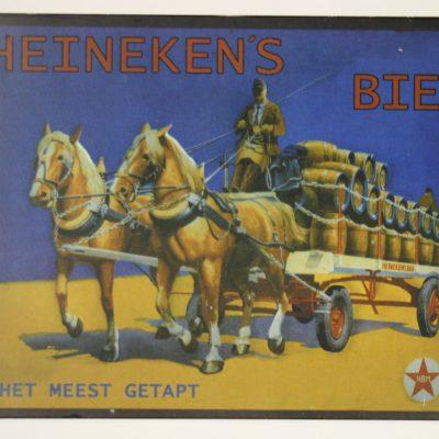 W065 - Metalen reclamebord Heineken