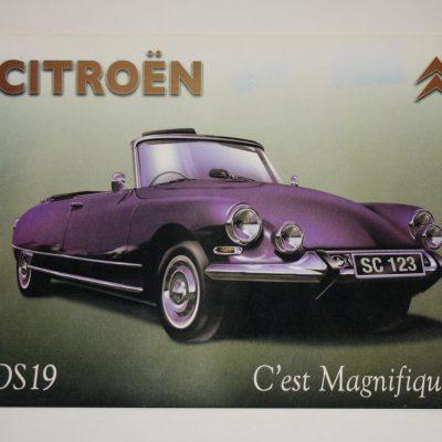 W066 - Metalen reclamebord Citroen DS