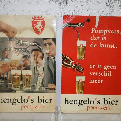 W149 - vintage reclameborden Hengelo's bier