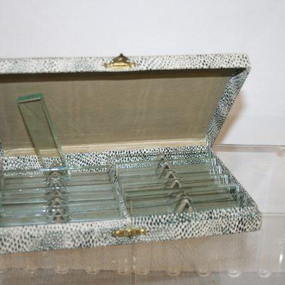 A069 - Kristallen messenleggers in origineel doosje