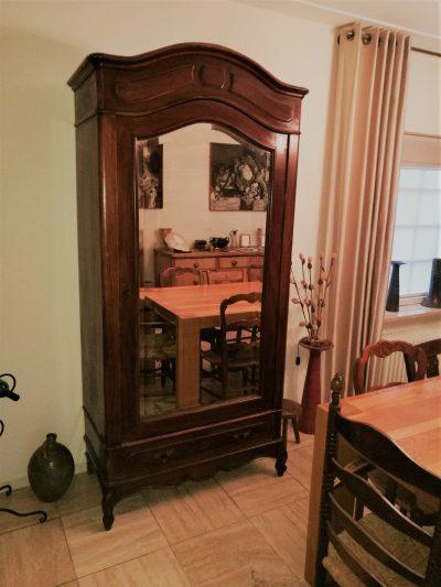 M039- Antieke ééndeurs spiegelkast