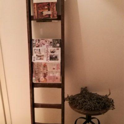 W011E- oud Franse ladder-schildersladder